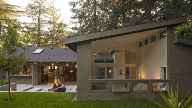 Slideshows L Shaped House House Exterior Modern Remodel
