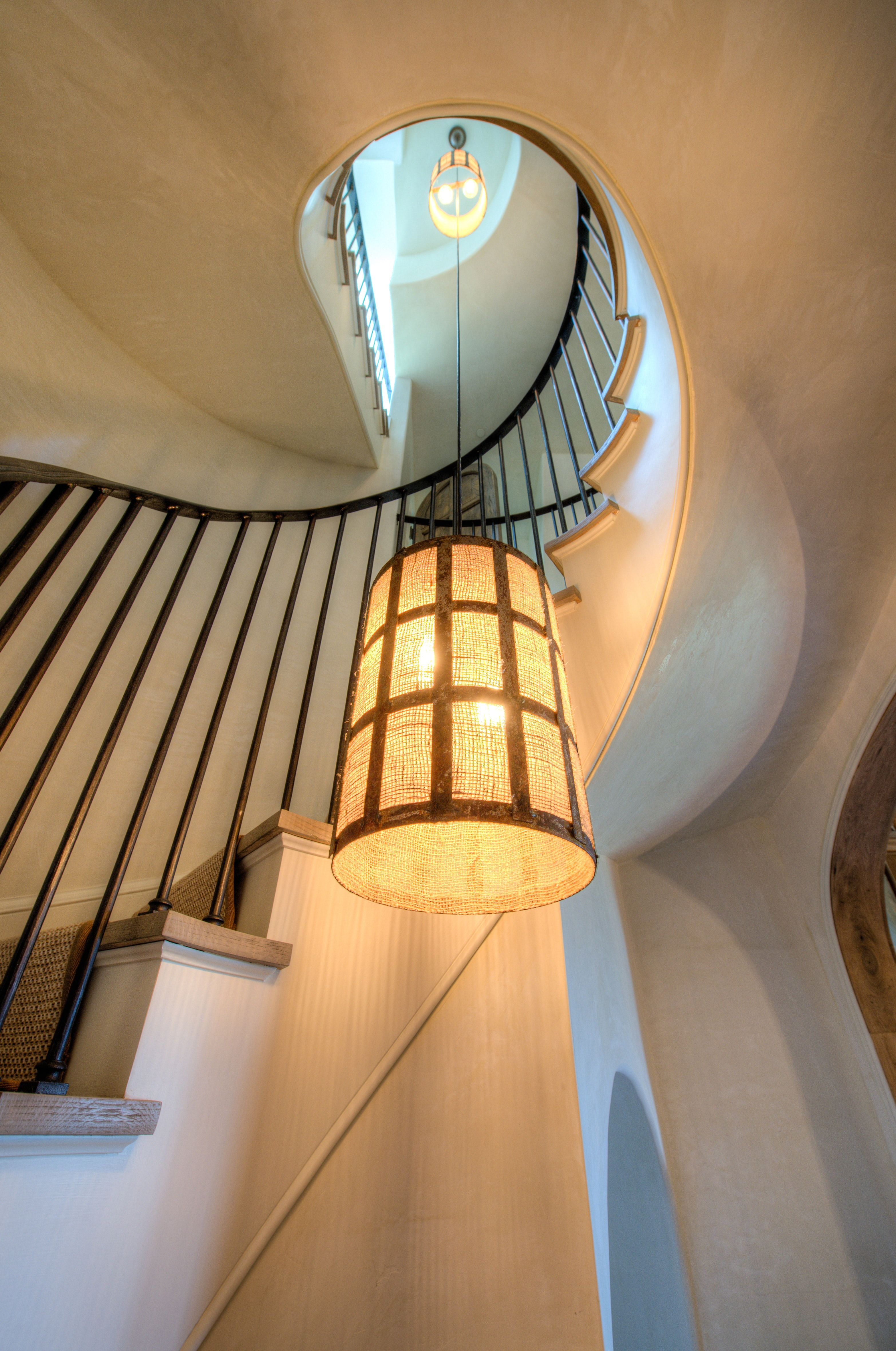 Best Circular Stair With French Oak Treads Iron Handrail And 400 x 300