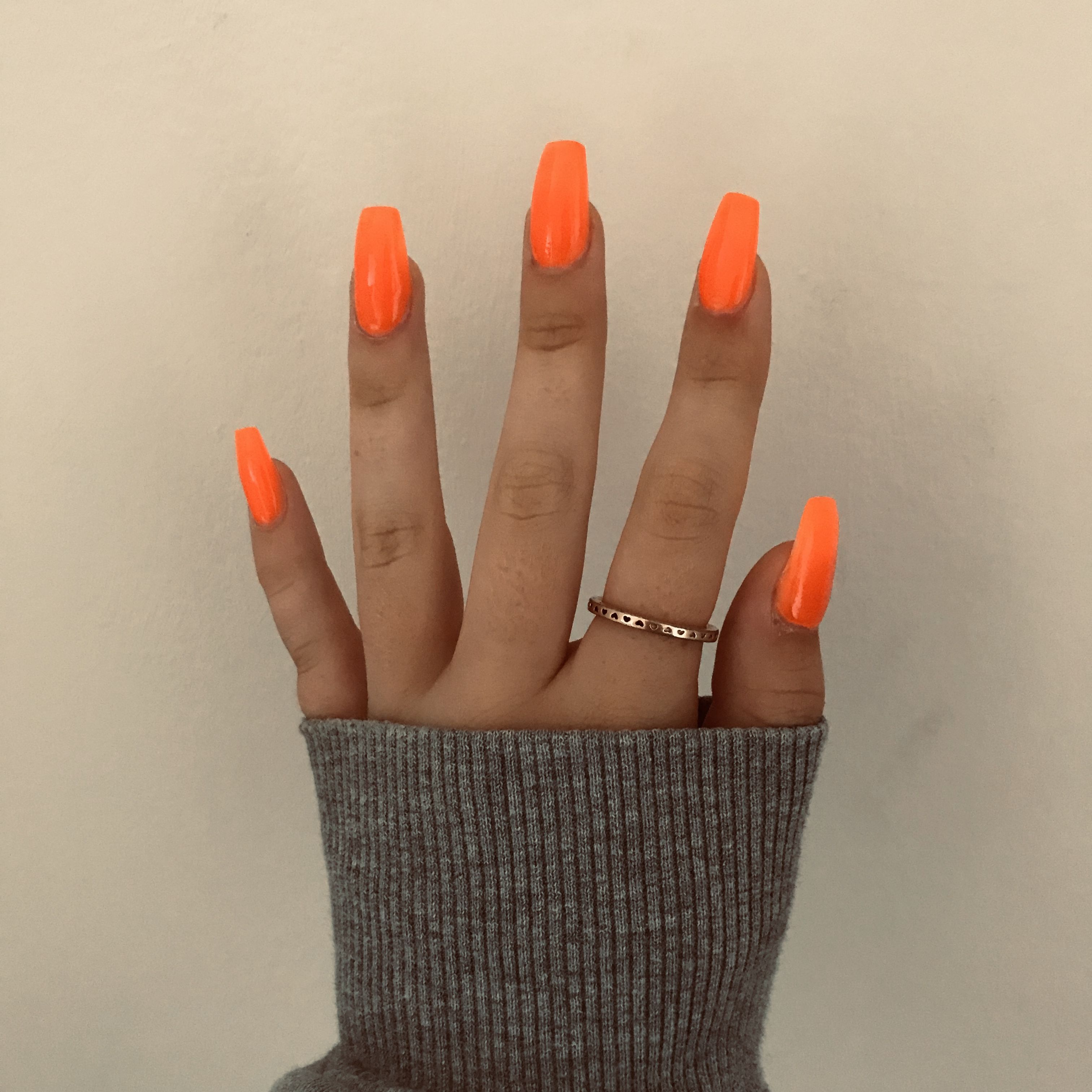 Acrylic Nails Acrylic Nails Acylic Nails Orange Acrylic Nails