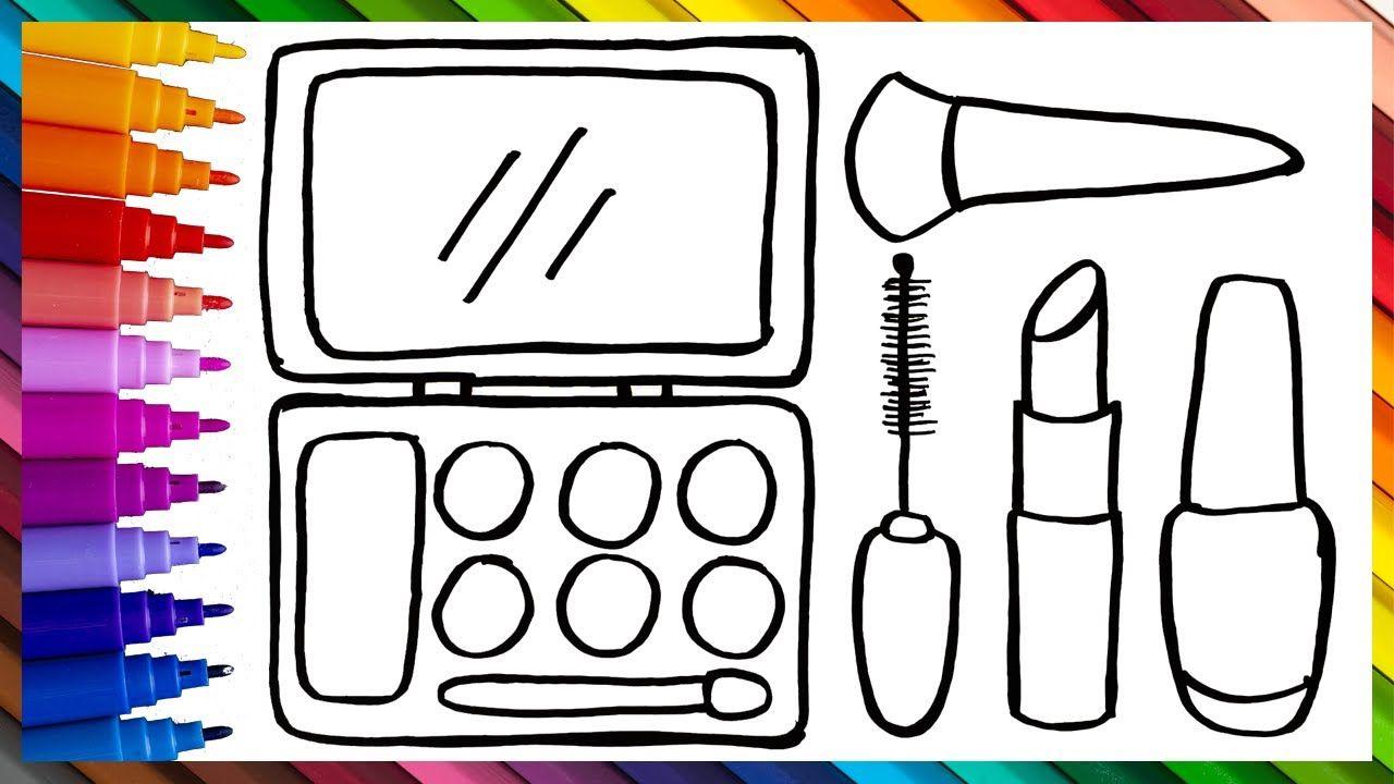 Dibuja Y Colorea El Kits De Maquillaje De Arco Iris Dibujos Para Ninos Maquillaje De Arco Iris Dibujos Para Ninos Dibujos De Colores