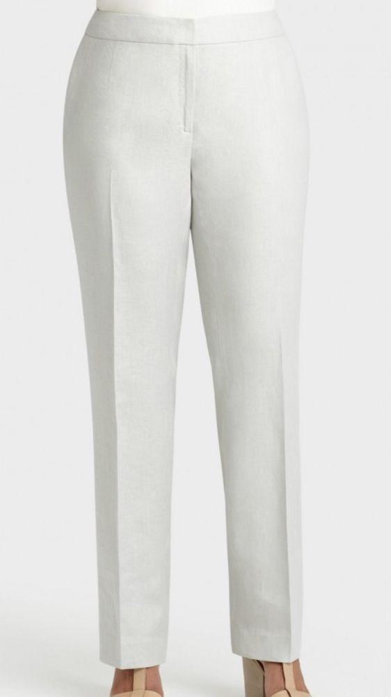 Lafayette 148 White Stretch Dress Pants Womens Plus Size 20 X 32