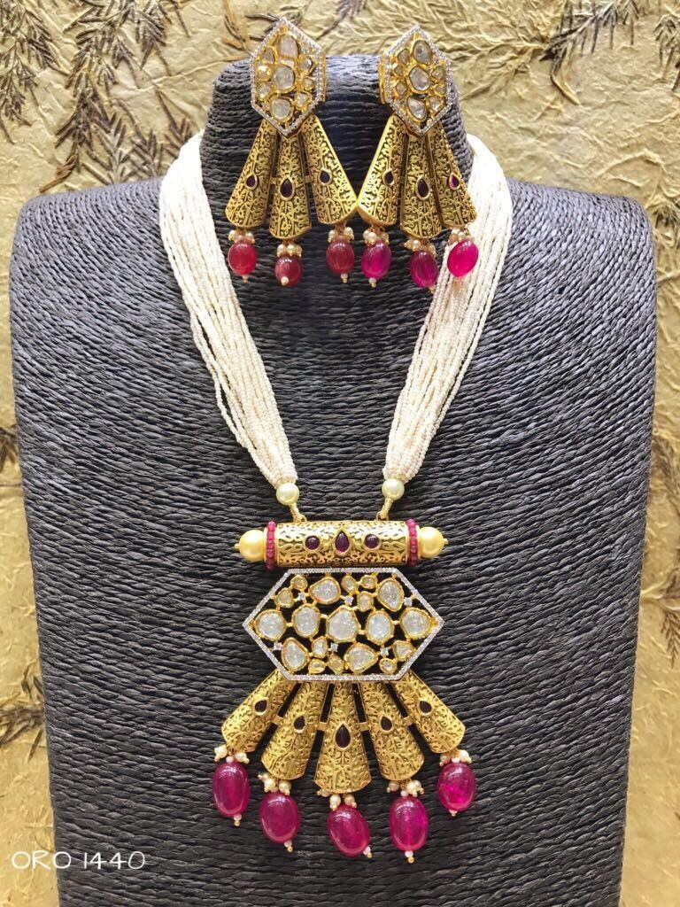 Kundan and beads set jewellery pinterest jewelry beads and