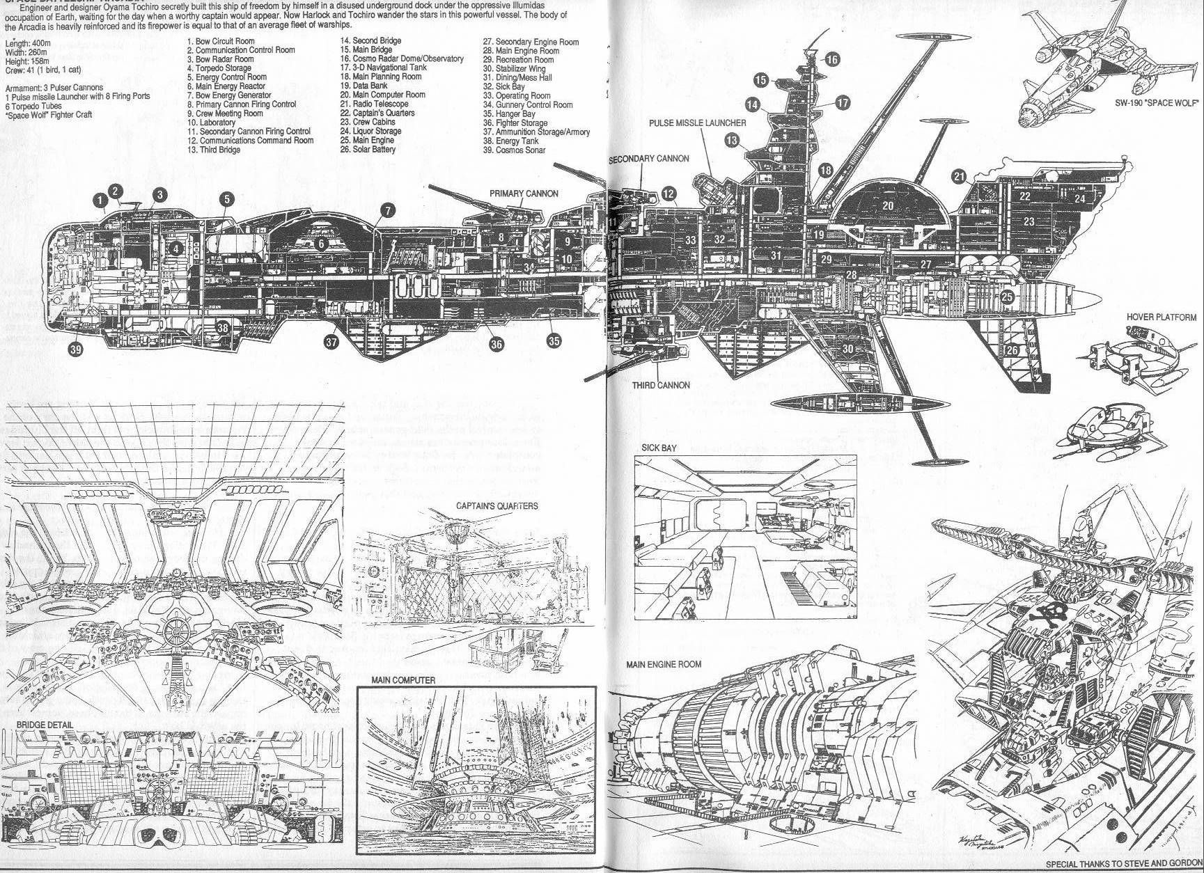 Spaceship schematics are always cool... | Interesting and/or silly