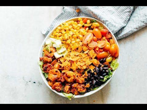 Mexican Prawn Avocado Taco Salad Recipe - Healthy and hearty!