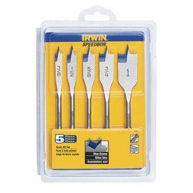 Lowe S 5 Pak Of Irwin Speedbor Butterfly Drill Bits 3 8 To 1 Drill Bits Wood Drill Bits Irwin Tools