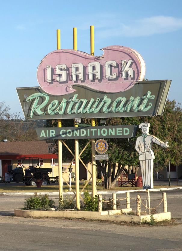 Isaak Restaurant Junction Tx Vintage Neon Signs Neon Signs Retro Signage