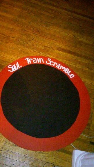 Soul Train Scrabble Board With Chalkboard Party Props
