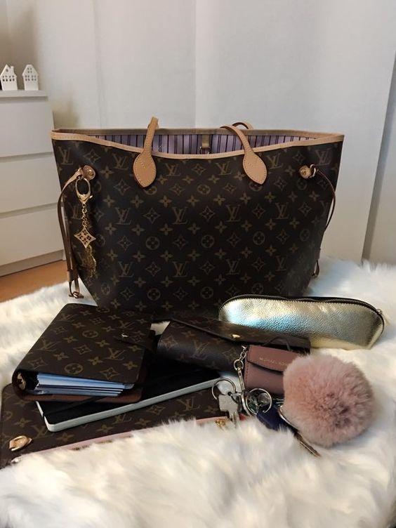 Louis Vuitton Women Leather Shoulder Bag Tote Handbag #Louisvuittonhandbags #louisvuittonhandbags
