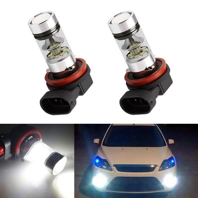 Led Auto Lights >> 2x H8 H11 Led Bulb Fog Lights Car Lamp Auto Light Bulbs For Ford