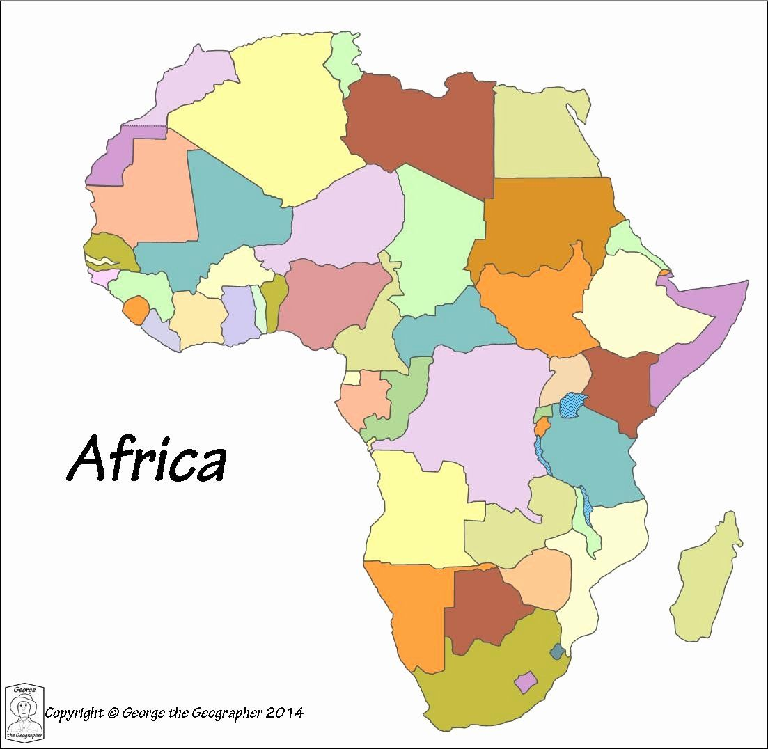 Africa Countries Coloring Pages Geography For Kids Coloring