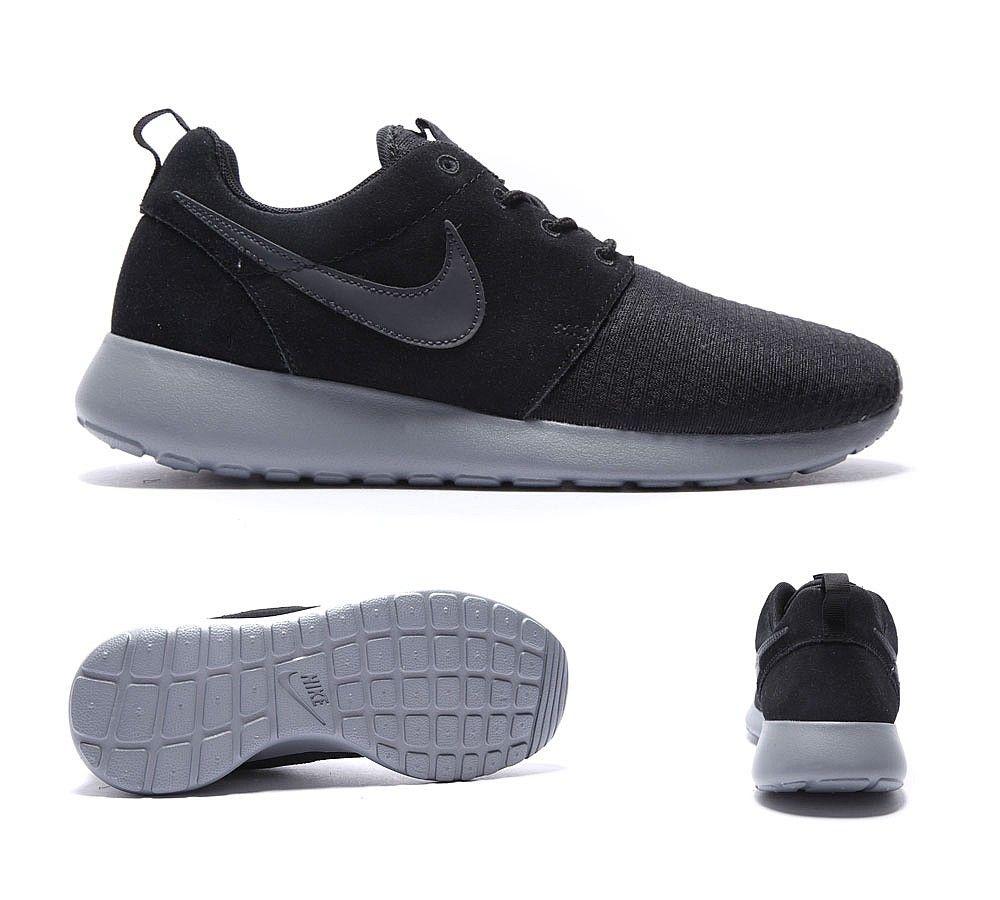 Nike Femmes Roshe Courir Anthracite Noir