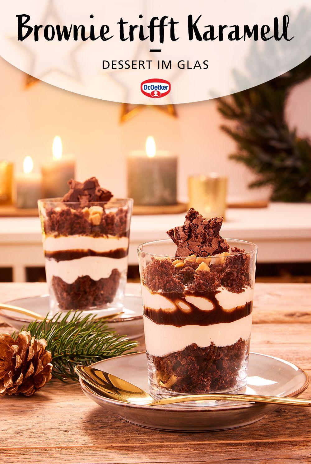 Photo of Brownie-Karamell-Dessert im Glas