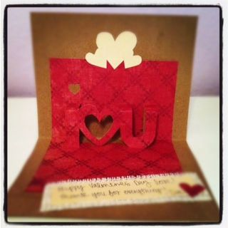 homemade valentines card for him  Google Search  Handmade Cards