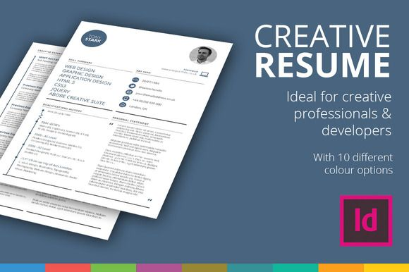 Creative Rsum Template ByGraphicsauthor  Resume Cv Templates