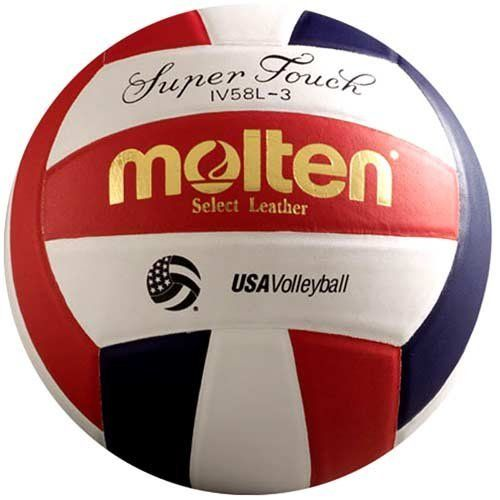 Molten Super Touch Volleyball Red White Blue Official By Molten Http Www Amazon Com Dp B000k8w6w2 Ref Cm Sw R Pi Dp P1smrb1 Volleyballs Sports Volleyball
