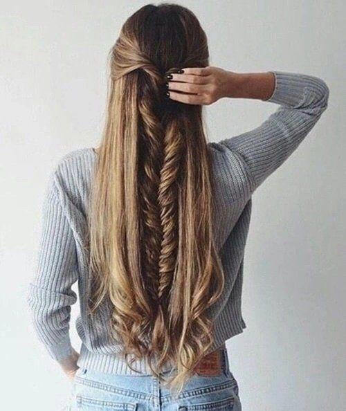 16 Peinados Para Hacerte Si Tienes Cabello Muy Largo En 2019