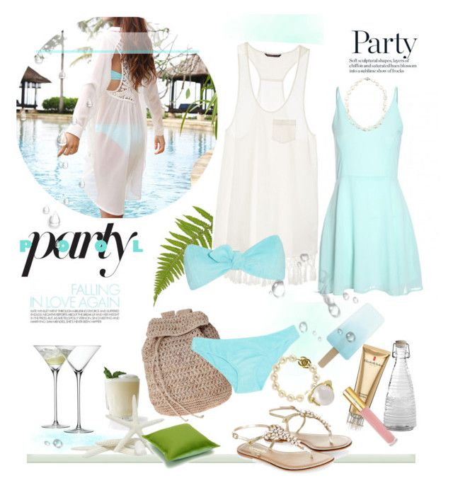 """Pool Party"" by rever-de-paris ❤ liked on Polyvore featuring Scoop, Monsoon, Elizabeth Arden, LSA International, Isaac Mizrahi, Victoria's Secret, Lisa Marie Fernandez, Chanel, Kilner and Wouters & Hendrix Gold"