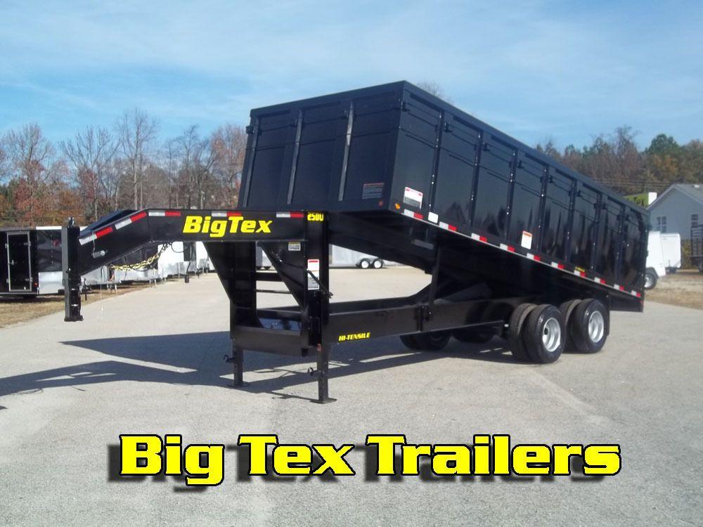 New Big Tex 8 20 Gooseneck 10 Ton Dump Trailer Available In Texas Georgia Dump Trailers Trailer Big Tex Trailer