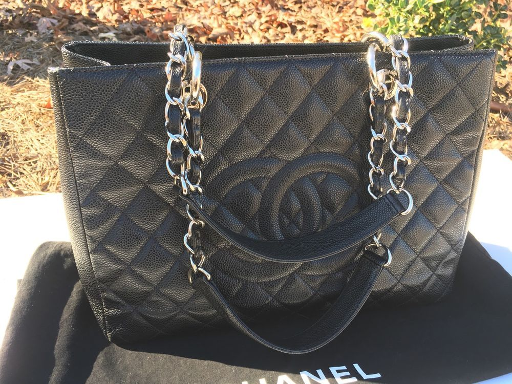 9907ae0f724b BLACK CAVIAR CHANEL LG GRAND SHOPPER TOTE BAG #19703548 Bergdorf Goodman |  eBay