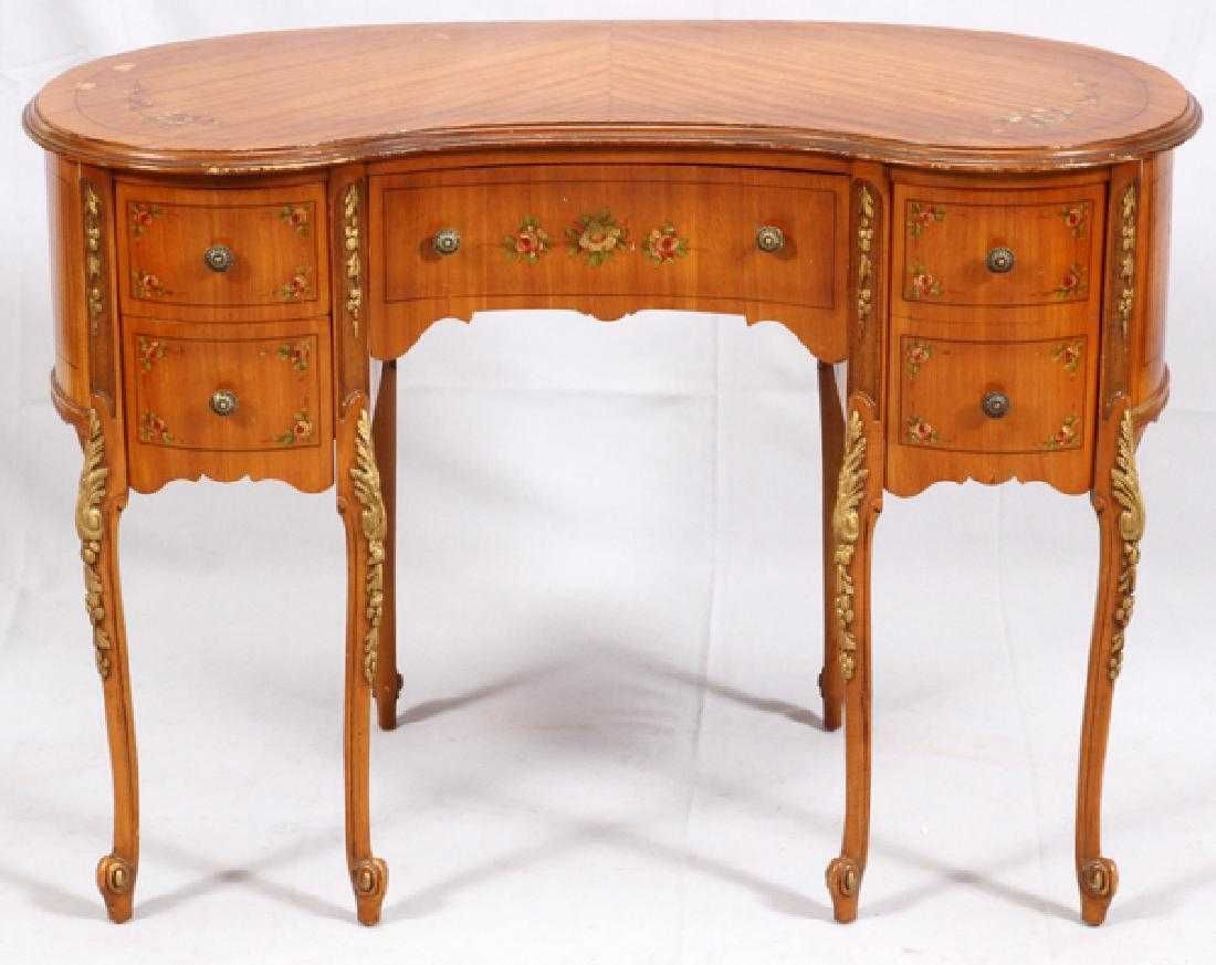 Louis Xv Style Kidney Shaped Writing Desk Writing Desk Ladies
