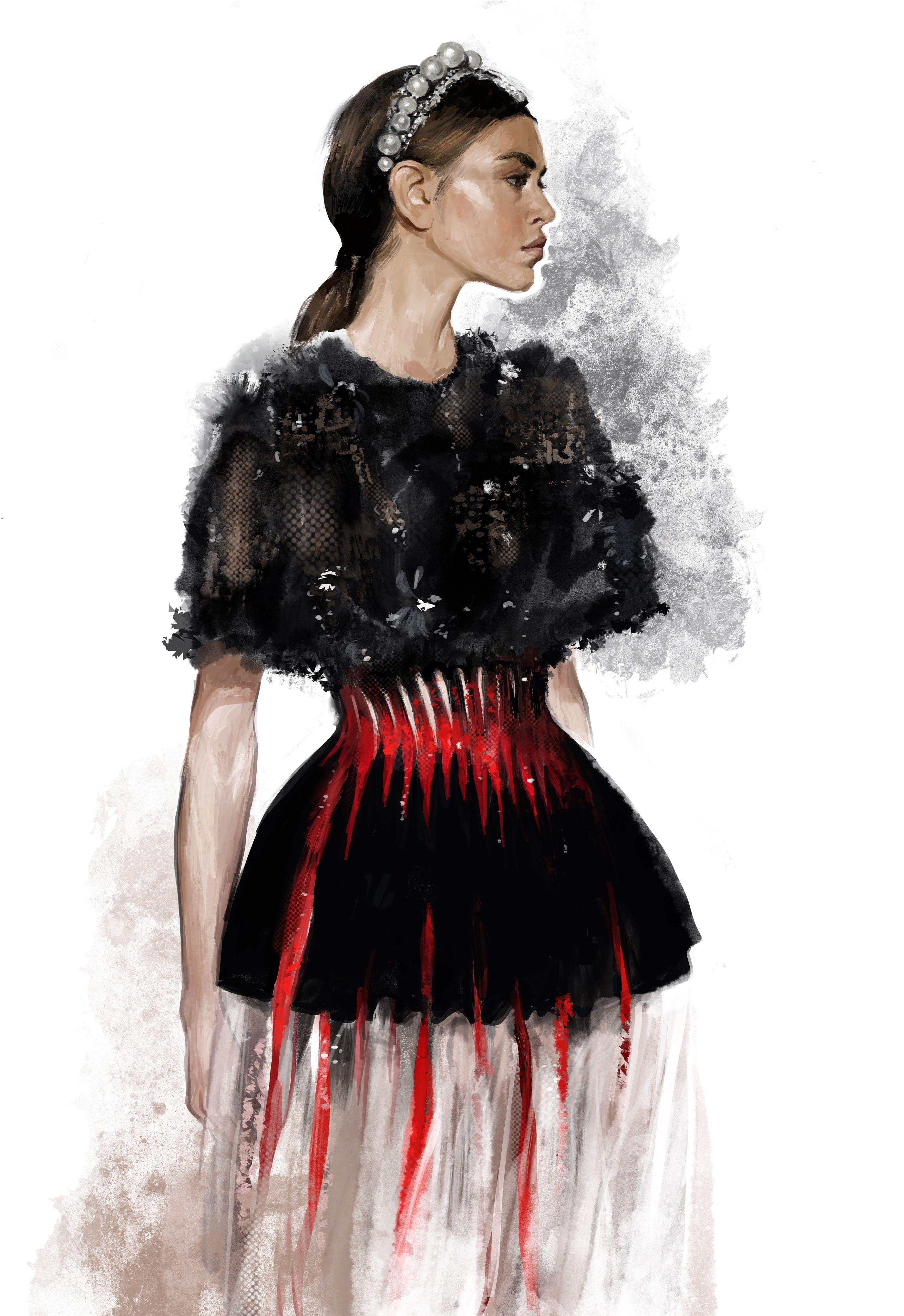 Digital Fashion Illustration On Behance In 2020 Fashion Illustration Dresses Digital Fashion Illustration Fashion Illustration