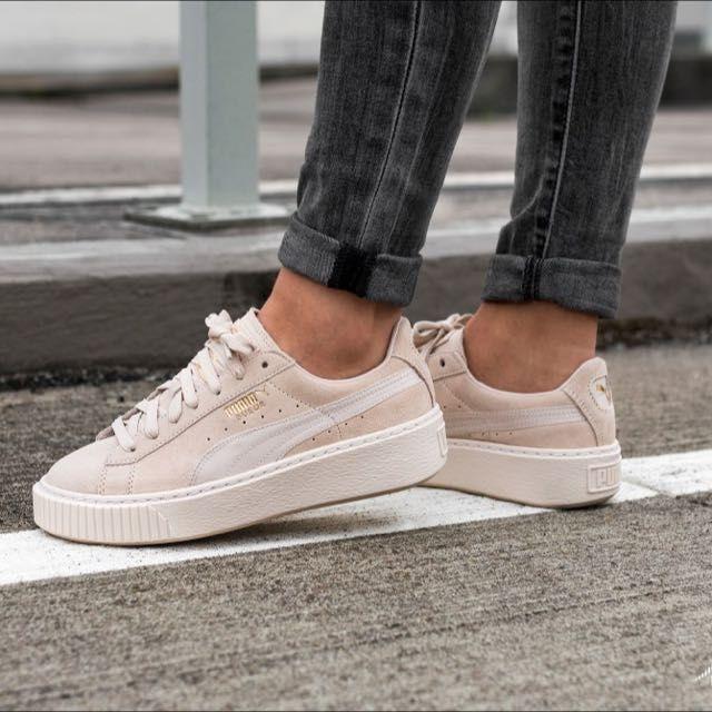 Puma Suede Platform Satin Wn´s | Zwart | Sneakers | 365828