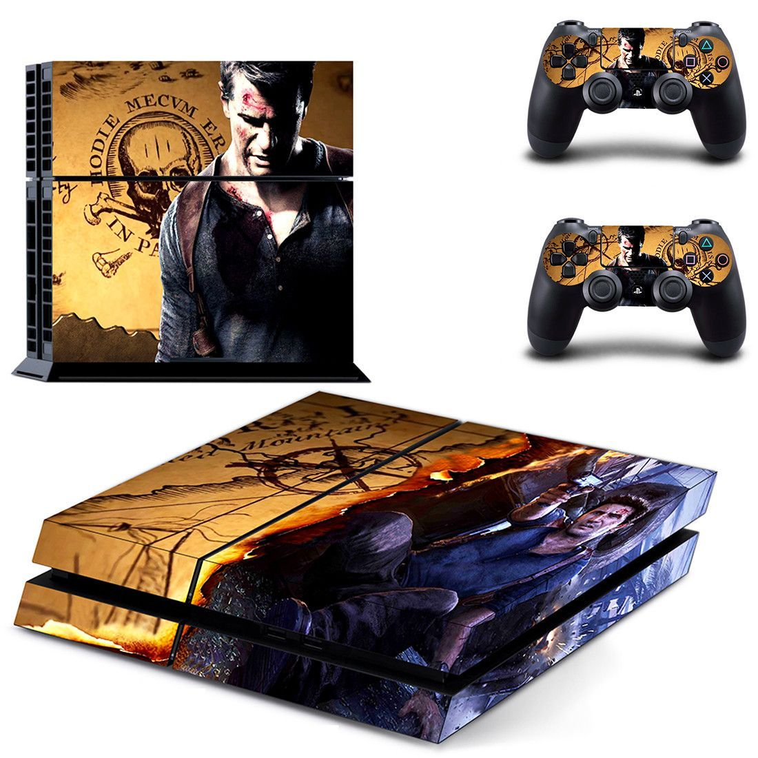 Uncharted 4 a thiefs end ps4 skin for console and controllers ... 6fb21350377
