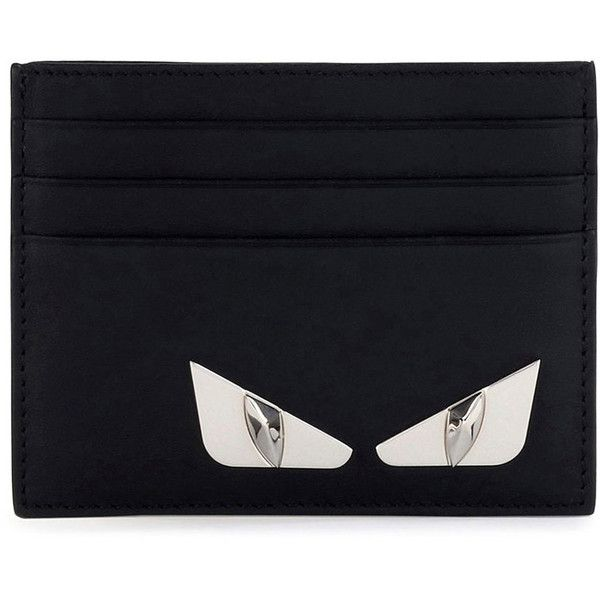 daa69c62c6 Fendi Monster Eyes Leather Card Case ($300) ❤ liked on Polyvore ...