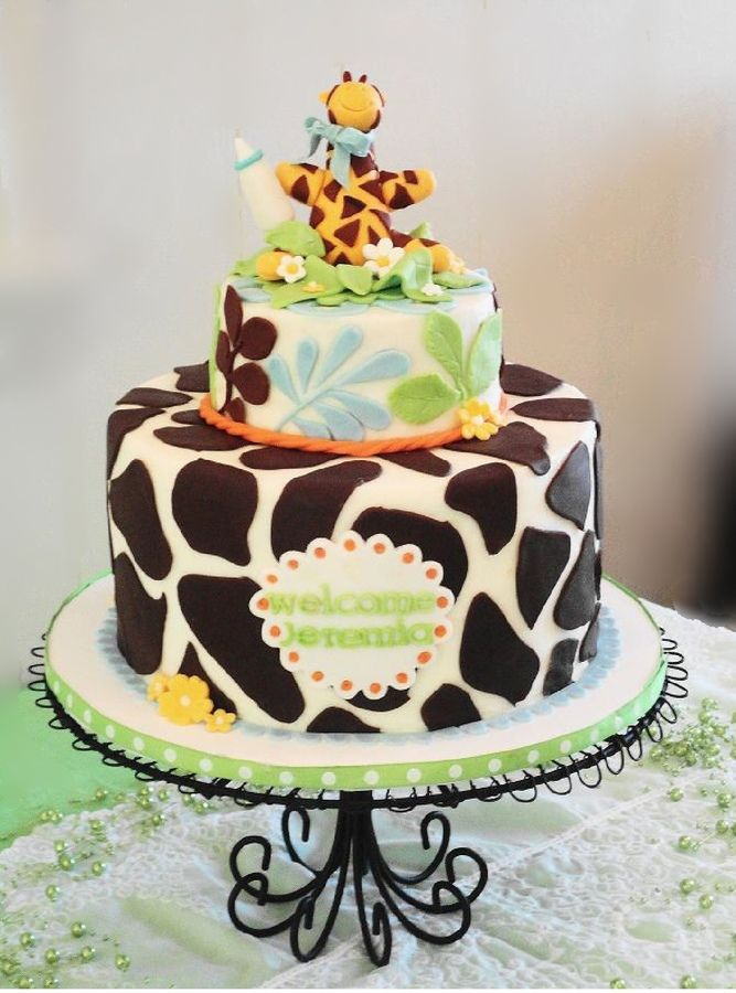 BUTTER CREAM FROSTING BABY SHOWER GIRAFFE CAKES IMAGES | Giraffe Baby Shower  Cake U2014 Baby Shower