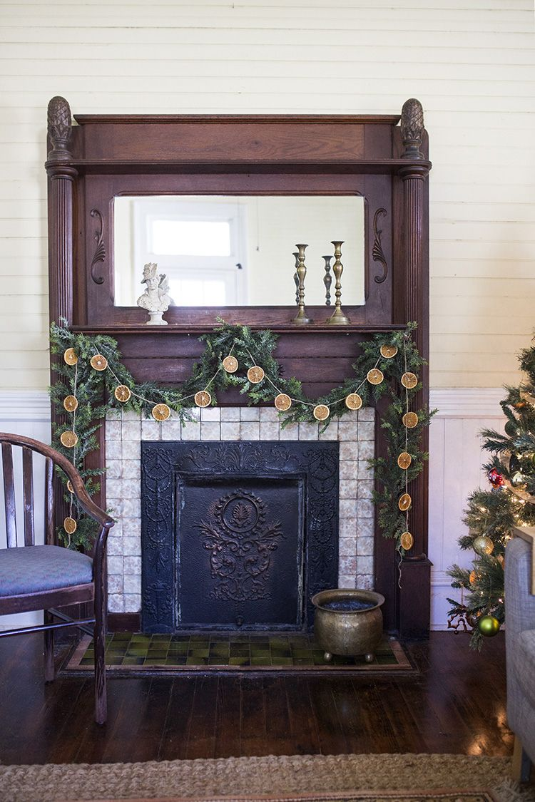 DIY Orange Christmas Garland & Ornaments Colorful