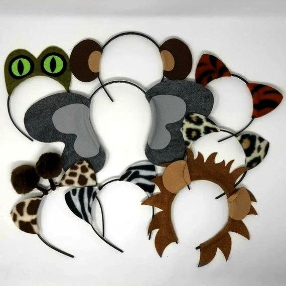 zoo animals theme ears headband birthday party favor costume lion elephant monk Jungle safari zoo animals theme ears headband birthday party favor costume lion elephant m...
