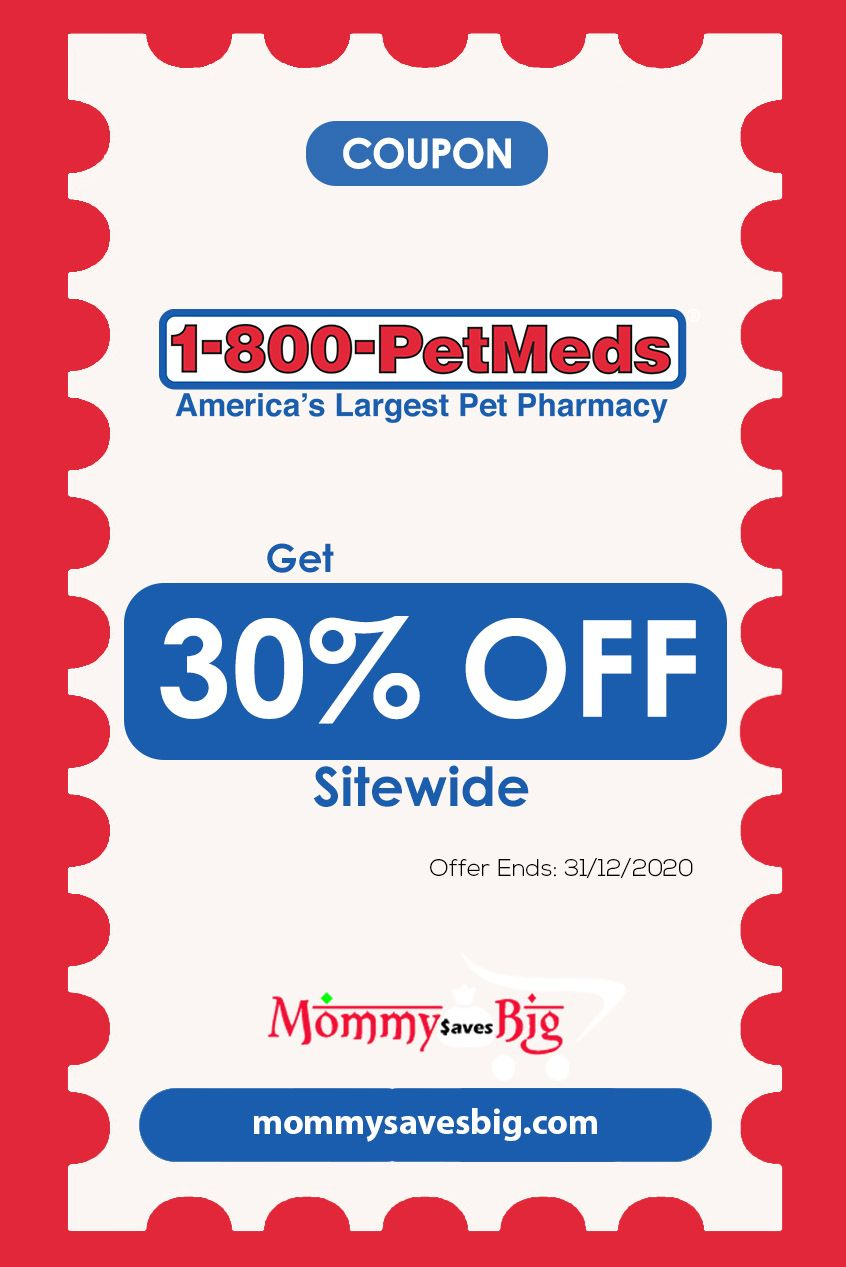 1 800 Petmeds Get 30 Off Sitewide Money Saving Mom Grocery Coupons Mom Coupons