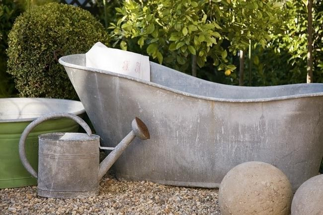 french style | antique watering cans & pumps | pinterest | outdoor