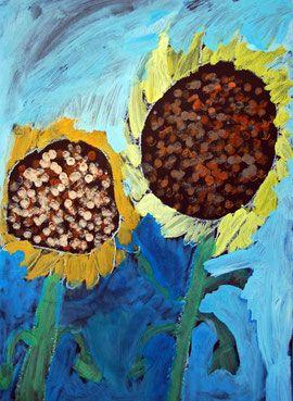 Sonnenblumen malen, Klasse 1-3, Anke Kremer   Jahreszeiten ...