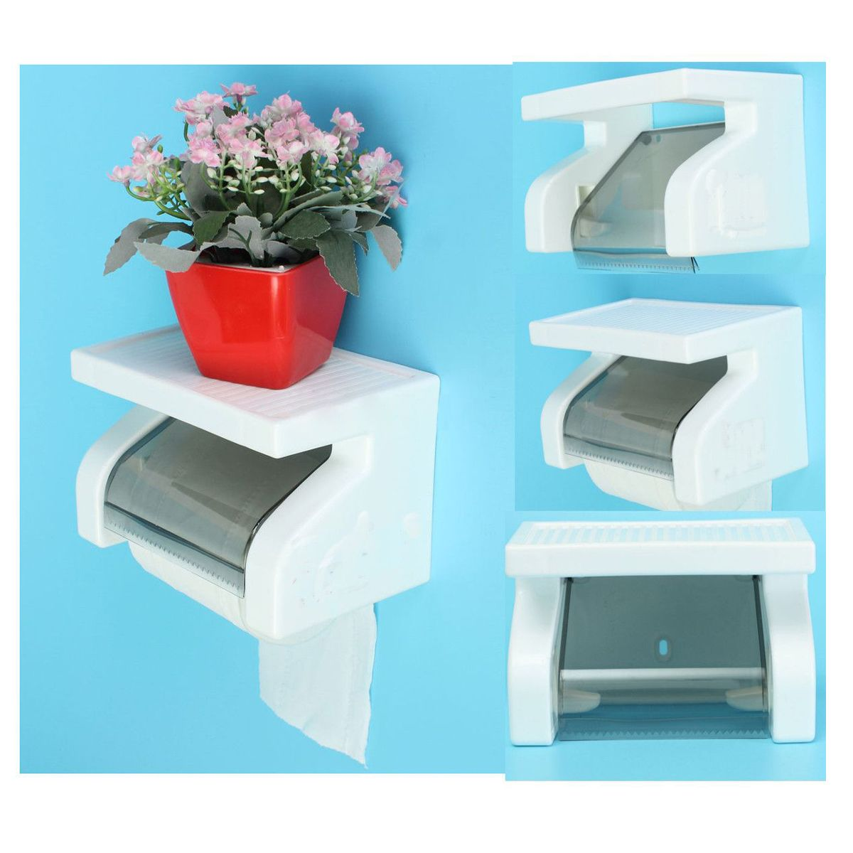 Promotion! Waterproof Toilet Paper Holder Tissue Roll Stand Box with ...