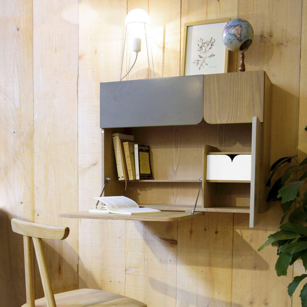 Petit Bureau Gain De Place 20 Modeles Pour Votre Ordinateur Joli Place Bureau Mural Bureau Mural Rabattable Ecriture Sur Les Murs