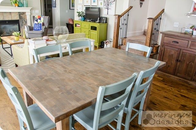 restaining a kitchen table  wood furniture diy