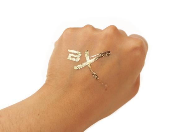 Bx Gold Foil Tattoos Foil Tattoo Gold Metal Gold