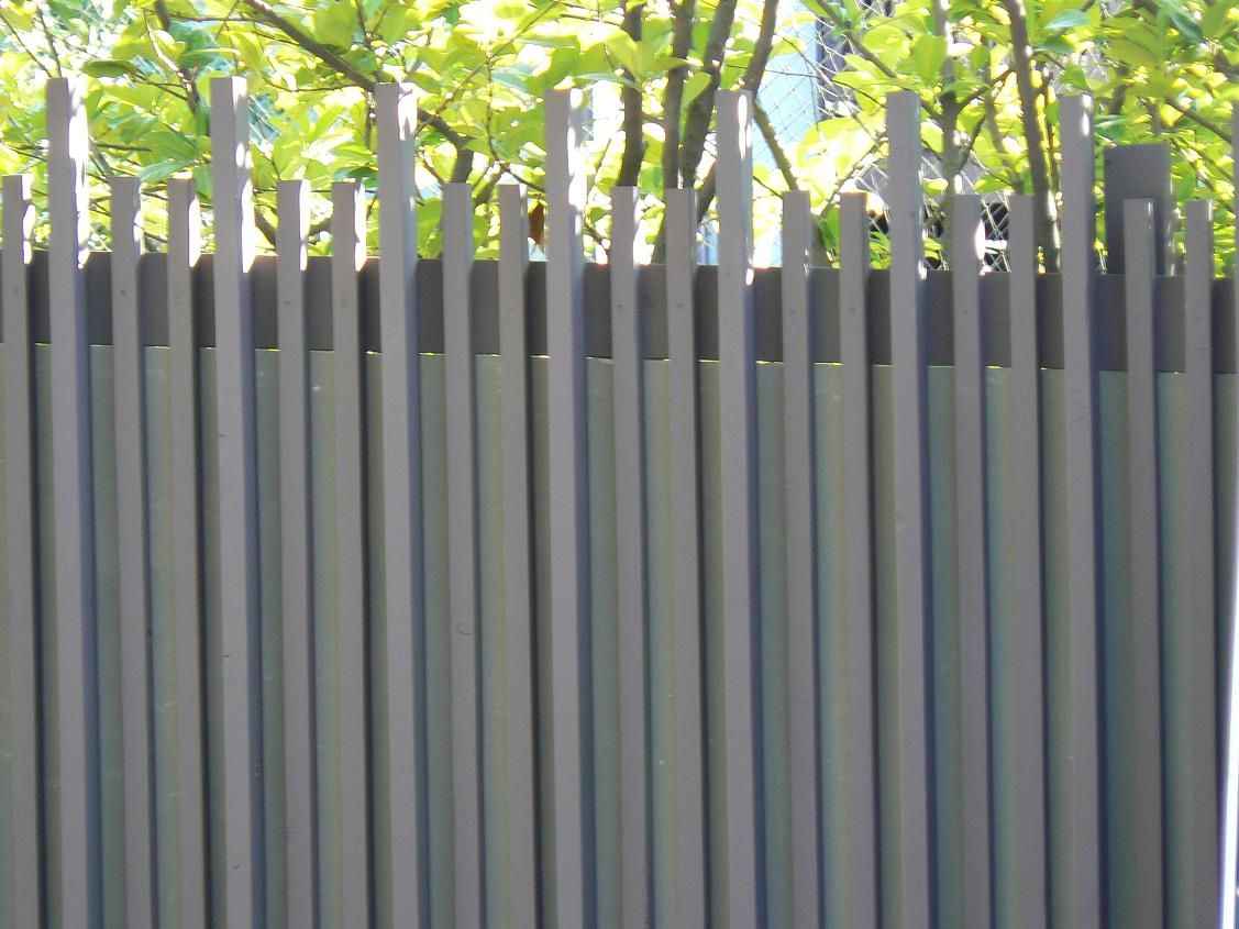Unique Wood Fence Designs Composite Mixed Material Fence