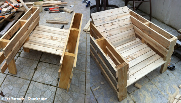 bricolage creer du mobilier de jardin avec des palettes en bois shunrize mobilier jardin. Black Bedroom Furniture Sets. Home Design Ideas