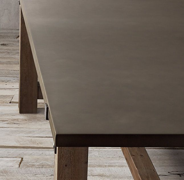 Reclaimed Wood Zinc Top Rectangular Dining Table Dining Table Reclaimed Timber Craftsman Style Homes