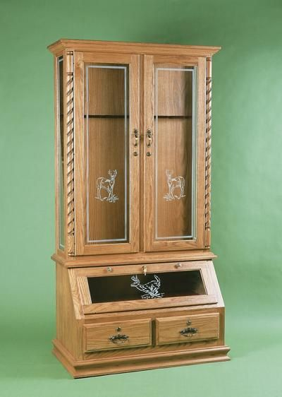 American Whitetail Gun Cabinet With Optional Deer Design In 2019