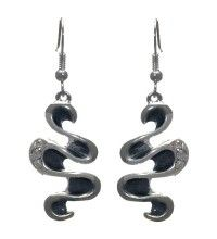 ASP Silver Plated, Grey Crystal Hook Earrings by Rodney