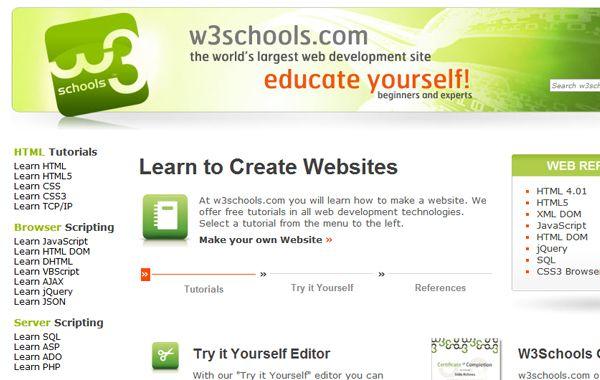 21 Best Websites For Teaching Yourself Web Development Web Design Training Teaching Coding Learning Website Design