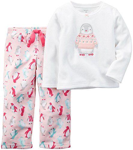 aa39b9123641 Carters Baby Girls 2 Piece Pj Set Penguin 12 Months