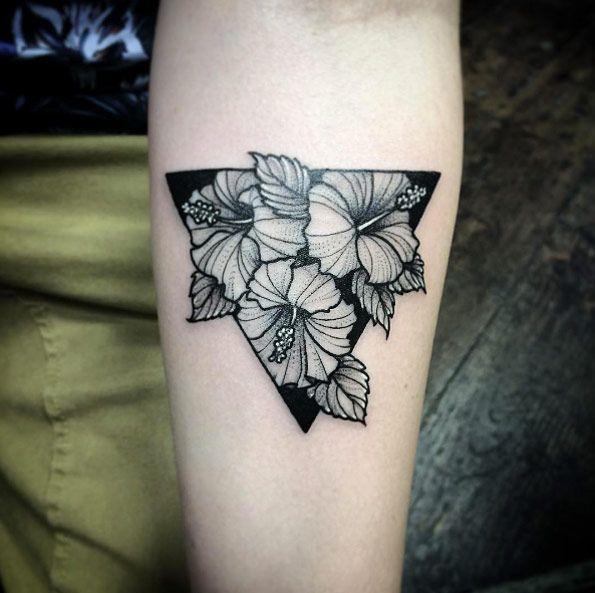 'Tribiscus' tattoo by Joe Pepper