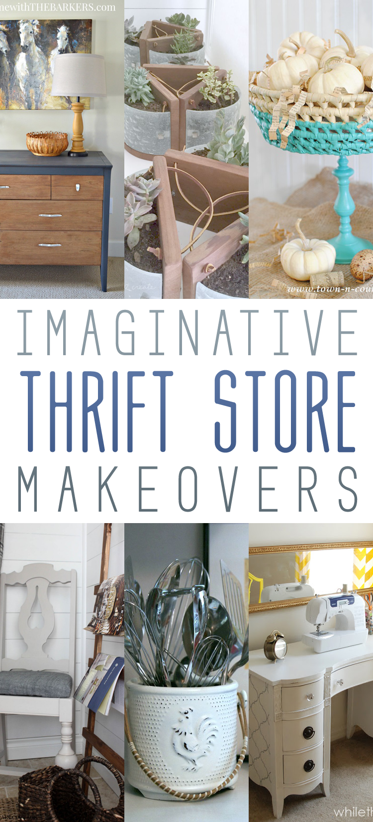Imaginative Thrift Store Makeovers