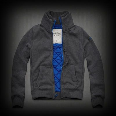 Abercrombie&Fitch Kempshall Mountain Sweatshirt トラックジャケット コントラストカラーのキルティング裏地にダブルジップのデザインがアクセントになりこだわり感があります。