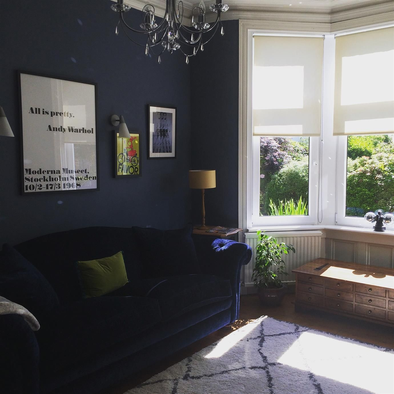 Blue Living Room: F&B Stiffkey Blue Inspo