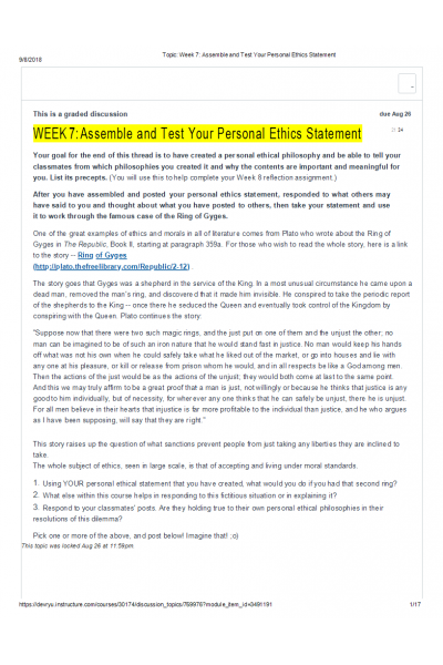 Pin On Ethc 445n Principle Of Ethics Personal Ethic Essay
